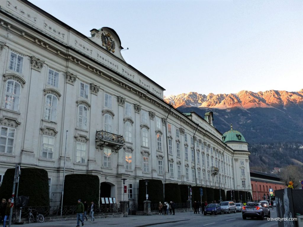 Imperial Palace in Innsbruck old town.