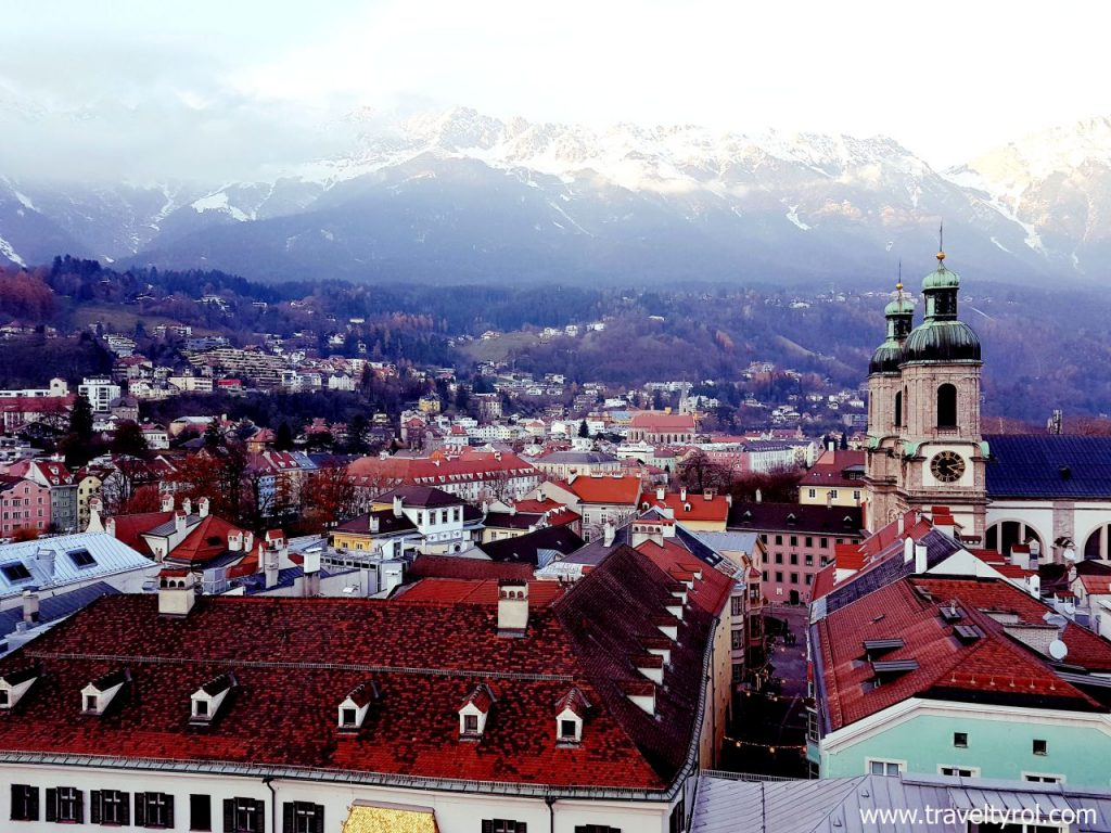 Views from Innsbruck city tower.