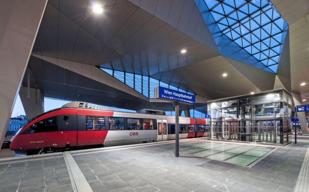 Vienna main train station. © ÖBB Roman Boensch