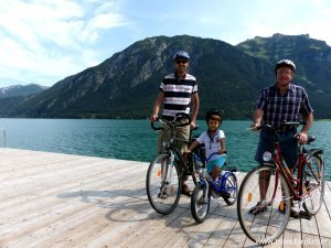 Cycling around the Achensee.