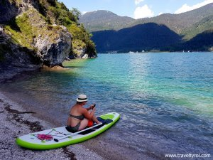 Lake Achensee paddle boarding.
