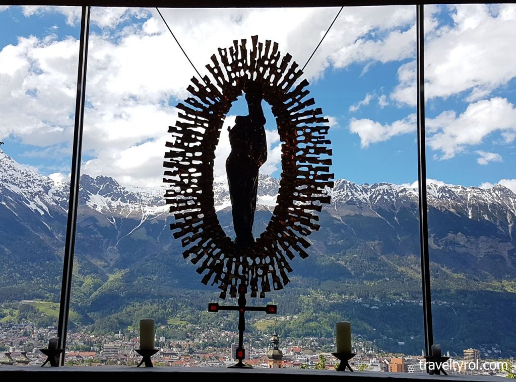 View from Kaiserjägermuseum on the Bergisel in Innsbruck.