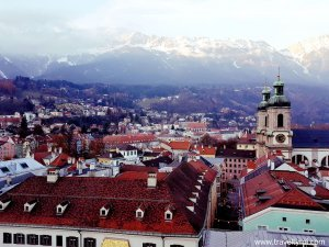 View from Innsbruck city tower.