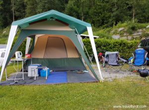 Pitch in Camping Aufenfeld with basic tent.