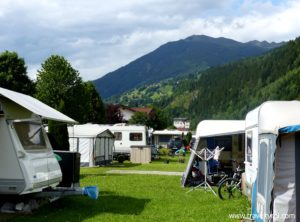 Pitches in Camping Aufenfeld in the Zillertal, Austria.