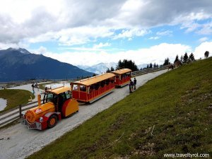 Serles train in Mieders Austria.