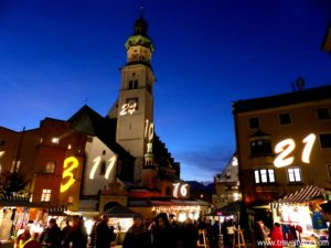 Christmas Market Hall in Tirol in Austria.