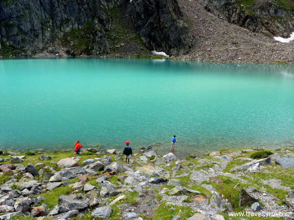 The Blaue Lacke in the Stubai Alps in Austria.