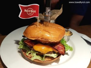 Original legendary Hard Rock burger Innsbruck.