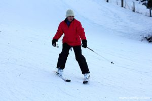 Tips vor beginner skiers.