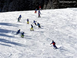 Ski course on Glungezer in Austria.