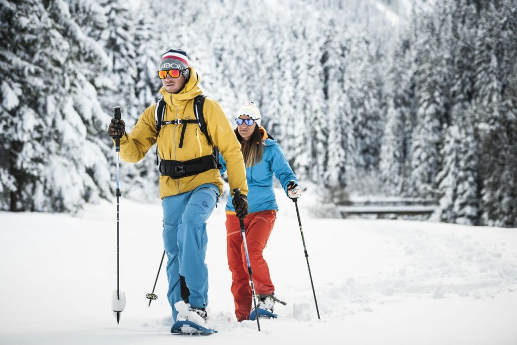 Snowshoehiking is a great thing to do in Austria in winter.