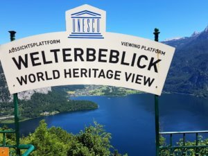 The World Heritage View from the Hallstatt skywalk.