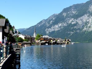 View of Hallstatt from near the tourist information office.