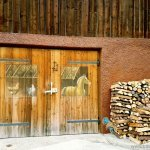 Barn door in Mieders Austria