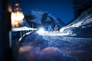 Night Tobogganing in the Stubai Valley