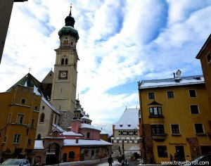 Town square Hall in Tirol