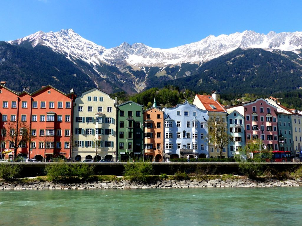 Innsbruck colourful houses is one of the perfect pictures of Austria © Linda de Beer / Travel Tyrol