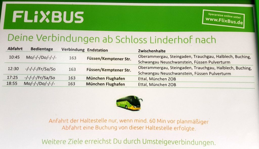 FlixBus to Linderhof