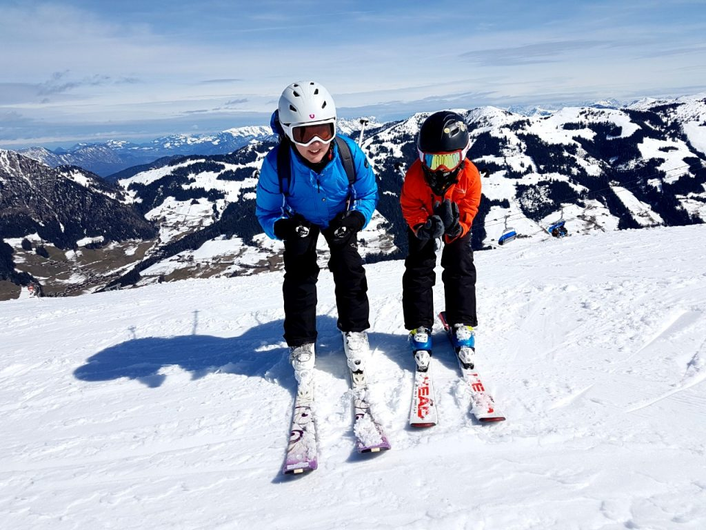 Skiing in Albachtal.