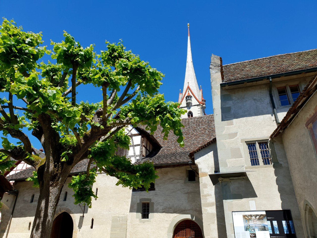 Church and Abbey in Stein am Rhein, Switzerland.