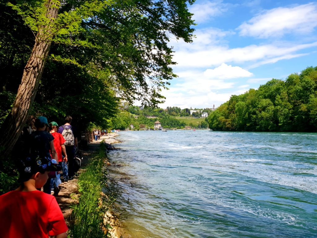 Rhine River hiking trail.