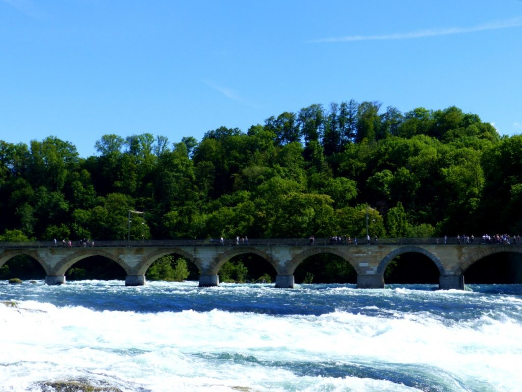 Rhine Falls train bridge.
