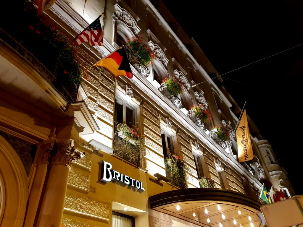 Bristol Hotel where famous stars stayed during the filming of The Sound of Music in Salzburg.