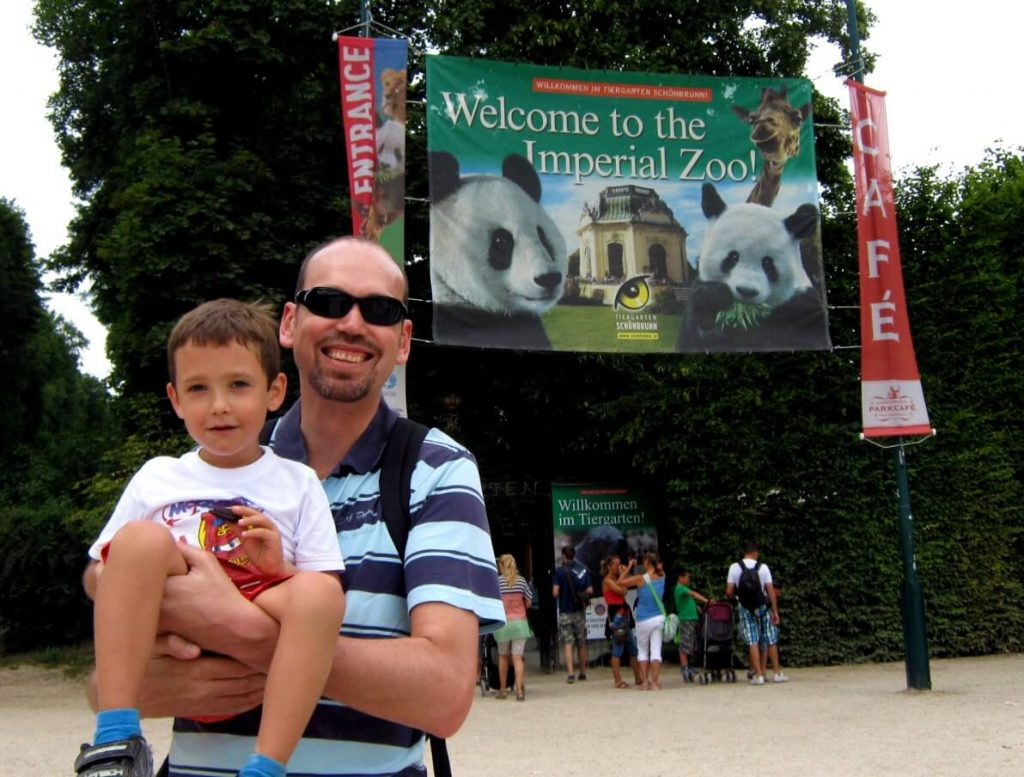 Imperial Zoo in Vienna with kids.