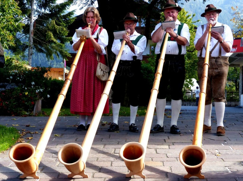 The Alphorn is a traditional Tyrolean instrument.