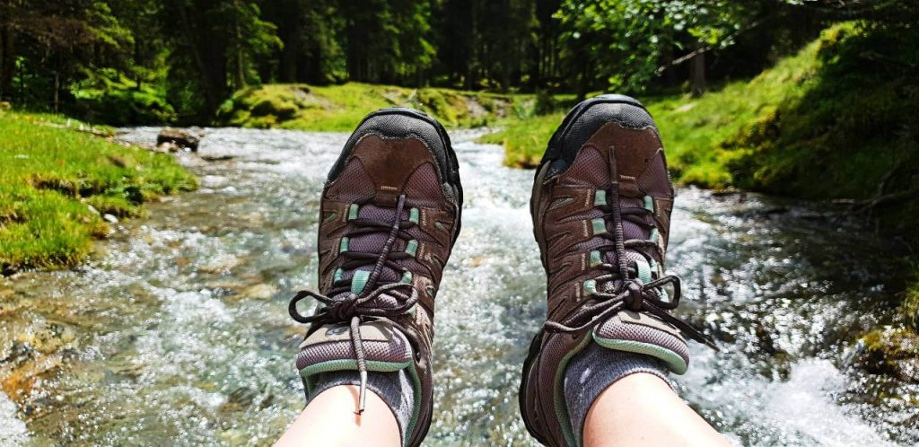Shoes for hiking in Austria.